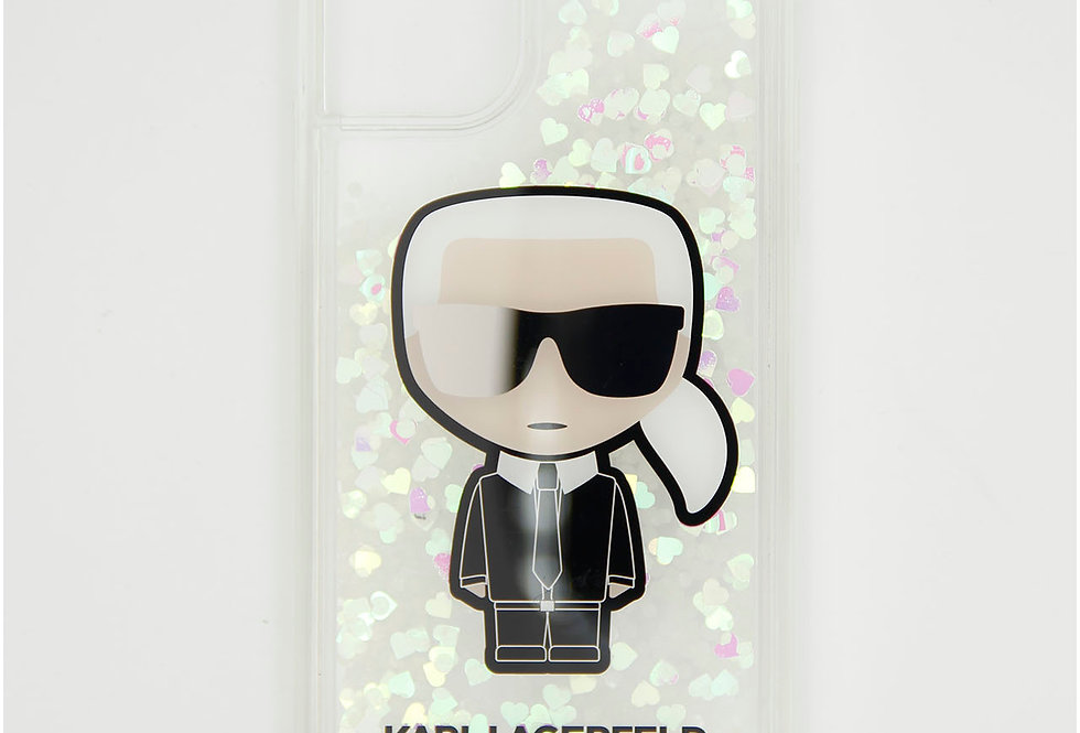 Силиконовый чехол c блестками на iPhone 11 Karl Lagerfeld