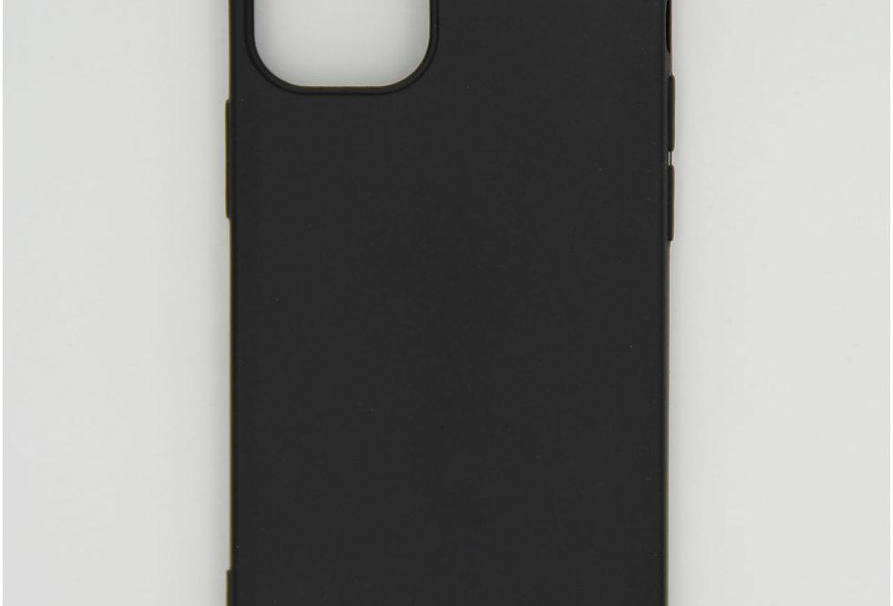 Чехол для iPhone 12 (5.4) черный матовый силикон
