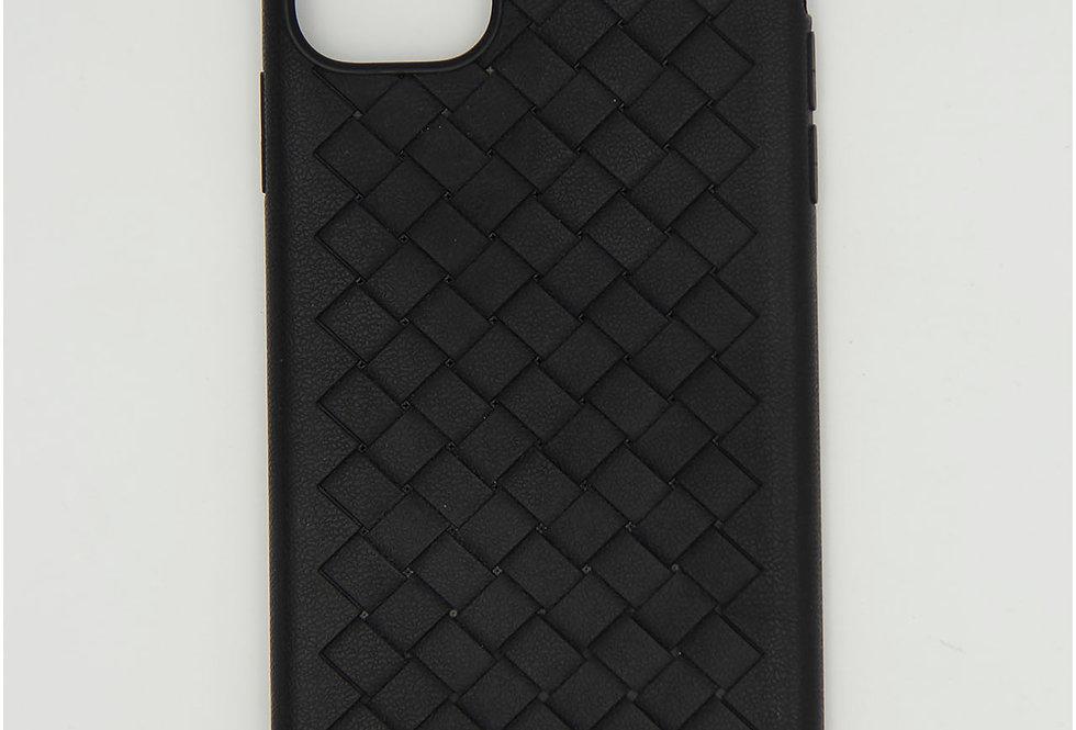 Чехол для iPhone 11 Pro Max плетеный под кожу