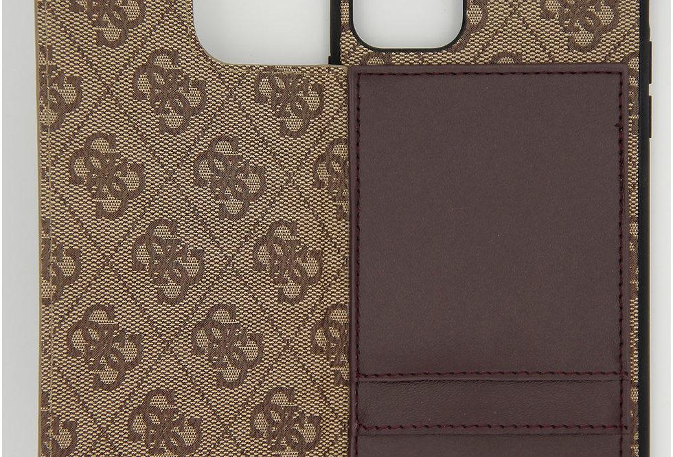 Книжка чехол на iPhone 11 Pro Max кожаный Guess