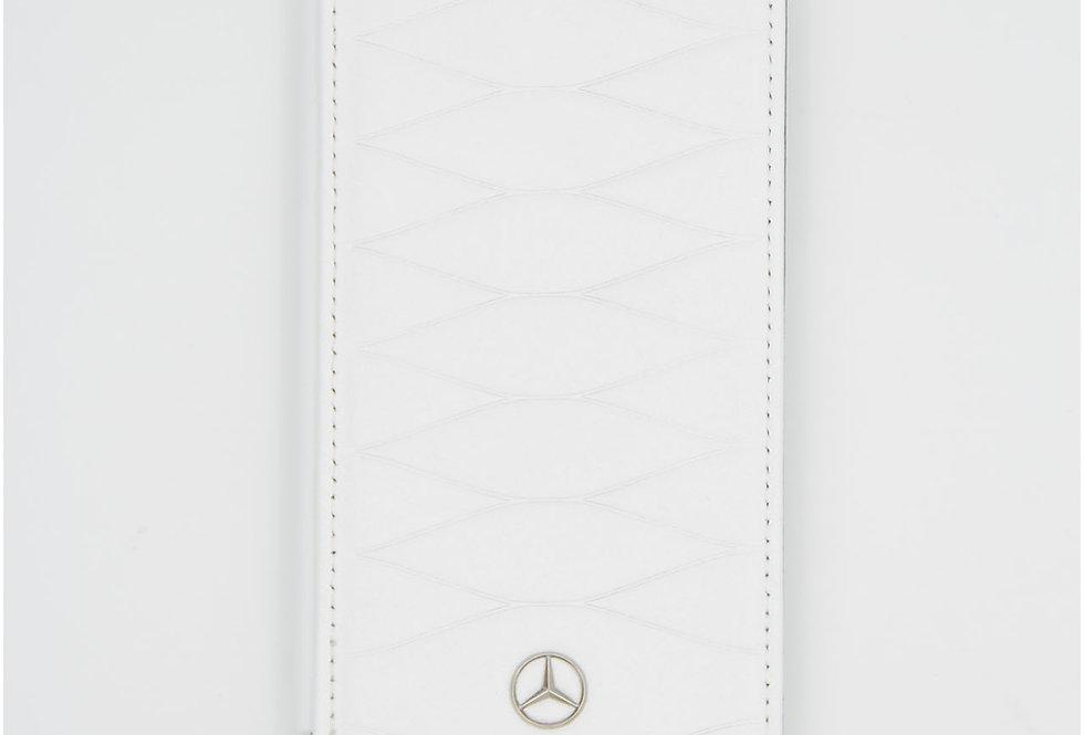 Книжка чехол кожаный на iPhone Xs Mercedes