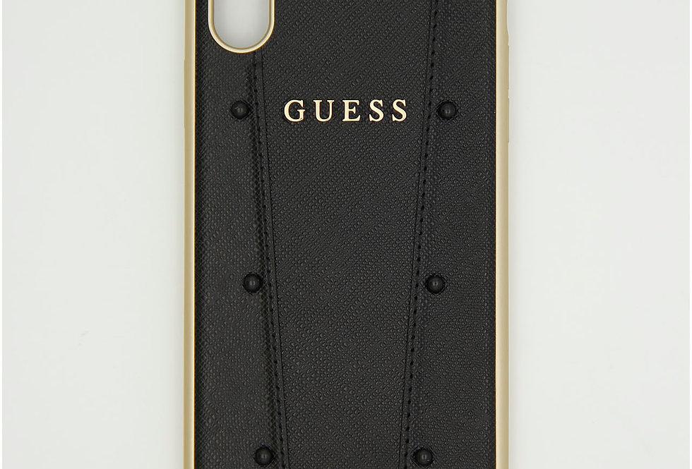 Кожаный чехол на iPhone Xr GUESS
