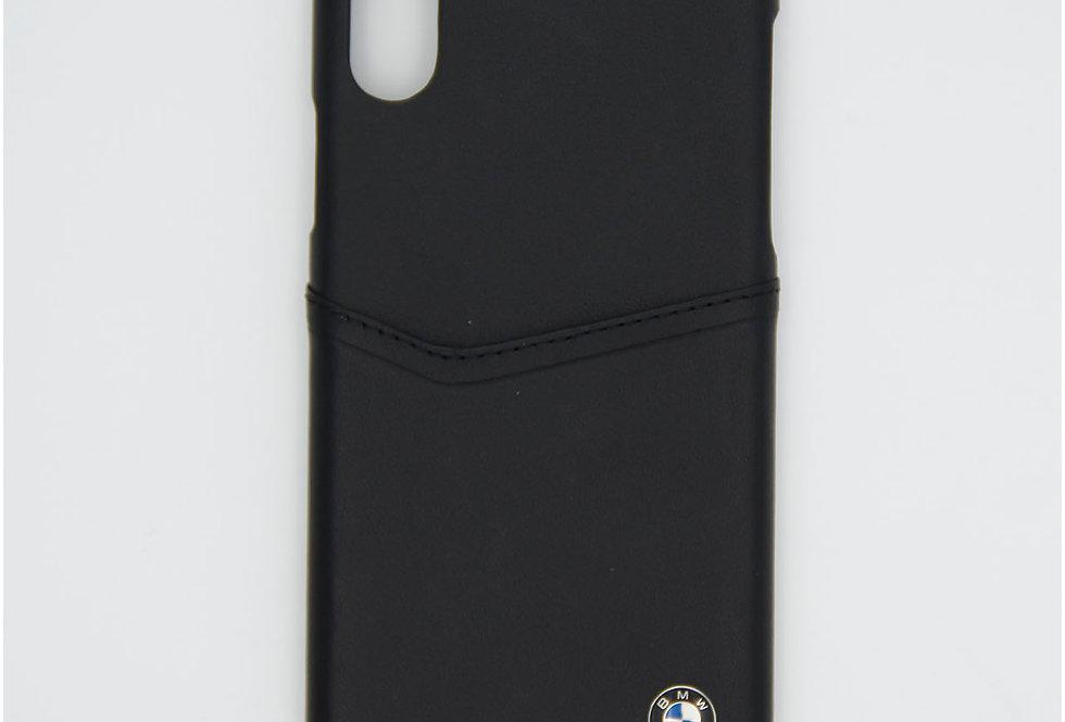 Кожаный чехол на iPhone Xs BMW