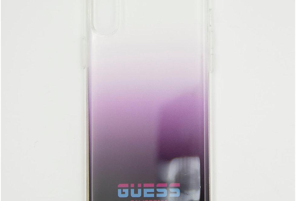 Силиконовый чехол на iPhone X GUESS