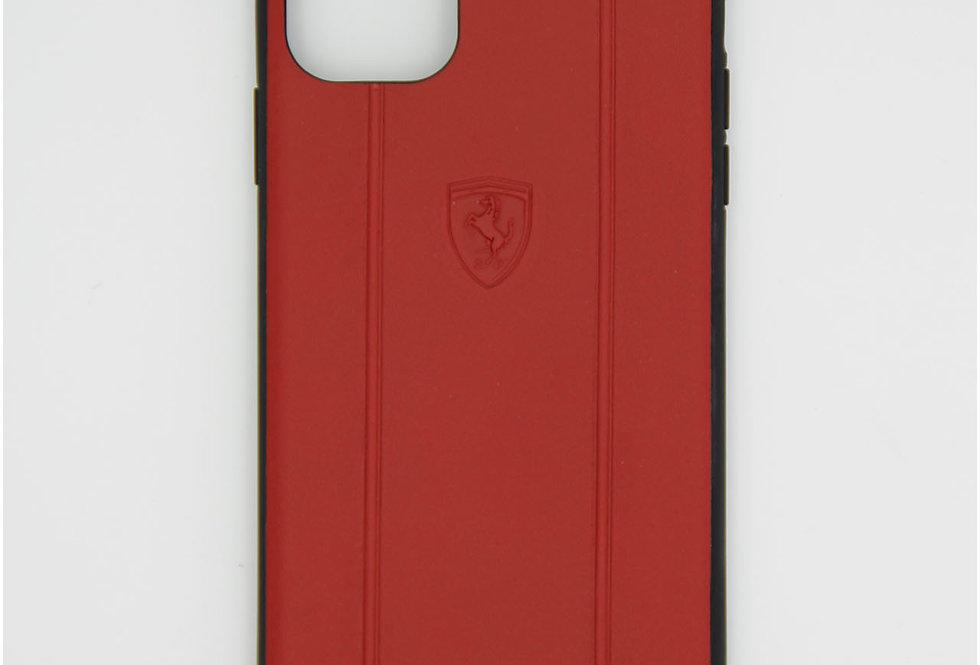 Кожаный чехол на iPhone 11 Pro Max Ferrari