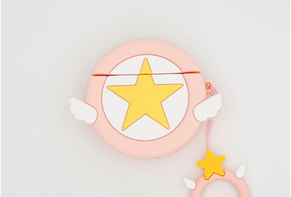 Чехол игрушка на AirPods логотип  Arena of Angels