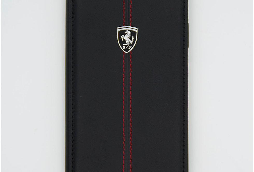 Книжка чехол кожаный на iPhone Xr Ferrari