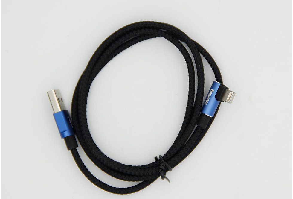 Зарядный кабель Lightning 1м изогнутый 2А Baseus