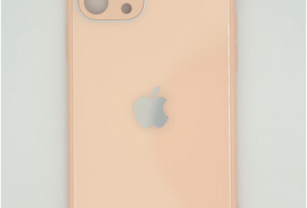 Чехол для iPhone 11 Pro стеклянный под логотип с защитой на камеру