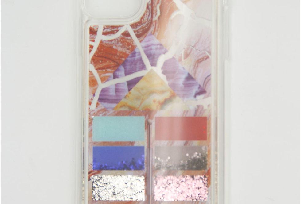 Чехол для iPhone 11 pro Max силиконовый, переливашка, под мрамор, палетка теней