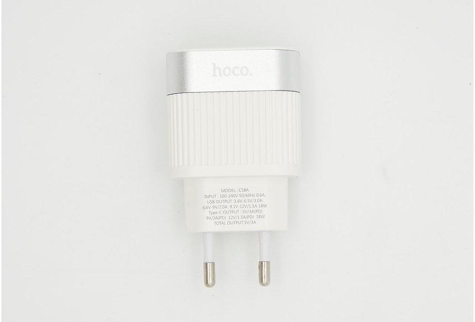 Сетевое зарядное устройство USB Type-c 5V 3A Quick Charge Hoco