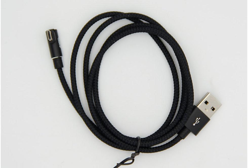 Зарядный кабель Micro Usb 1м изогнутый 2А Baseus