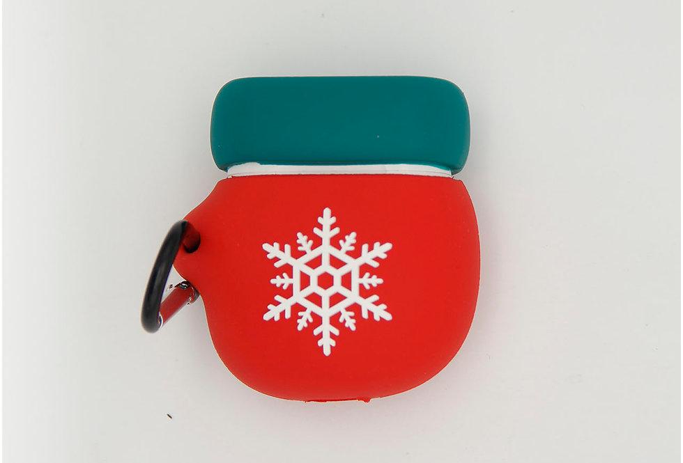 Чехол игрушка для AirPods новогодний, варежка