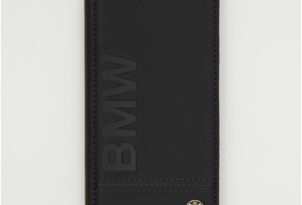 Кожаный чехол книжка на iPhone X BMW