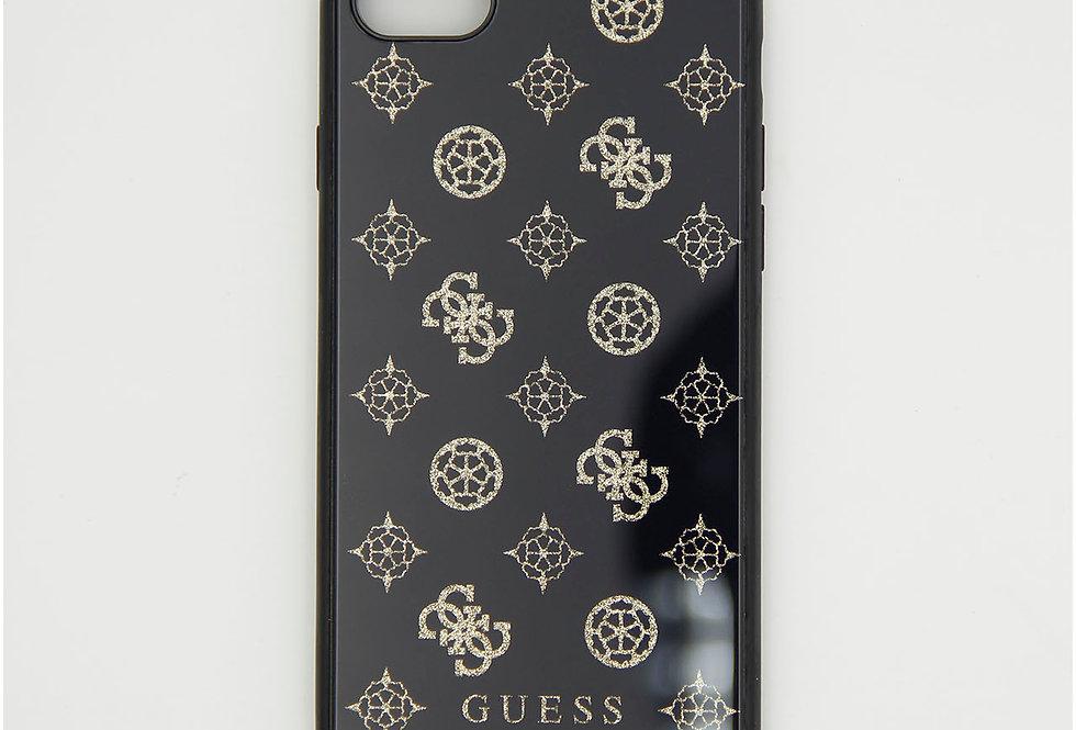 Стеклянный чехол накладка на iPhone 8 Guess