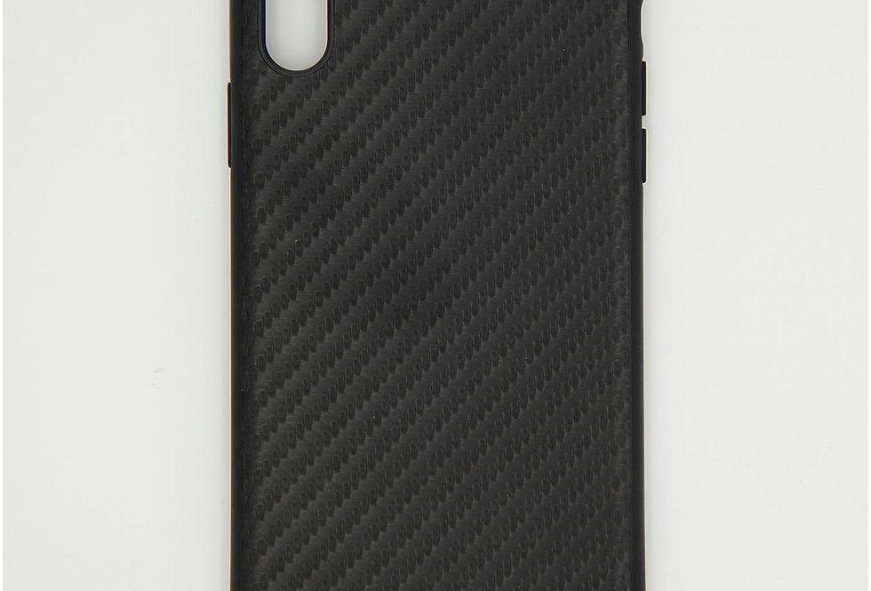 Карбоновый  чехол на iPhone Xs Max Mercedes