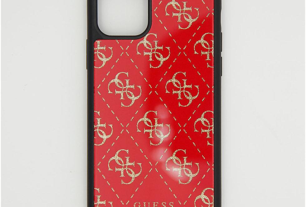 Стеклянный чехол накладка на iPhone 11 pro Guess