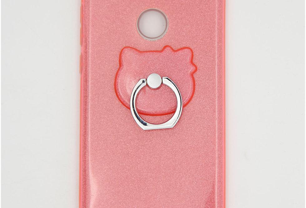 Трехсоставной силиконовый чехол на Huawei Honor 8 Lite с кольцом-держателем