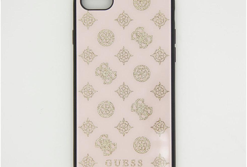 Стеклянный чехол накладка на iPhone 7 Guess