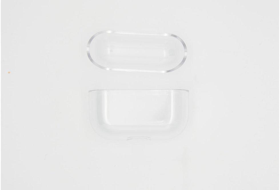 Пластиковый прозрачный чехол на AirPods Pro