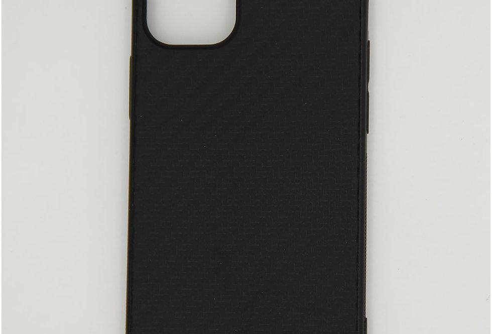 Чехол для iPhone 12 (5.4) черный под карбон