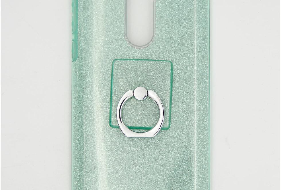 Трехсоставной силиконовый чехол на Huawei Honor 6x с кольцом-держателем