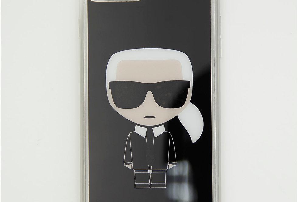 Силиконовый чехол c блестками на iPhone 8 Plus Karl Lagerfeld