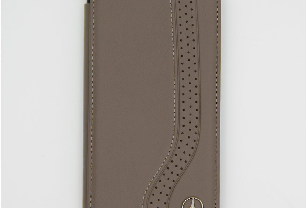 Книжка чехол кожаный на iPhone X Mercedes