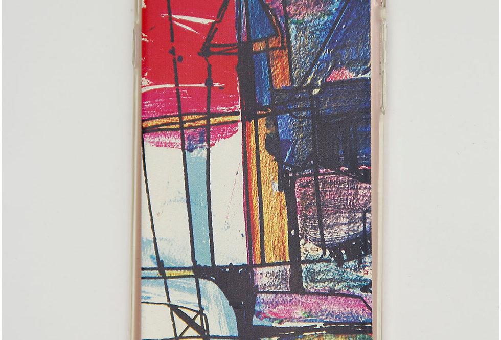 Чехол для iPhone 7/8 силикон, разноцветные рисунки