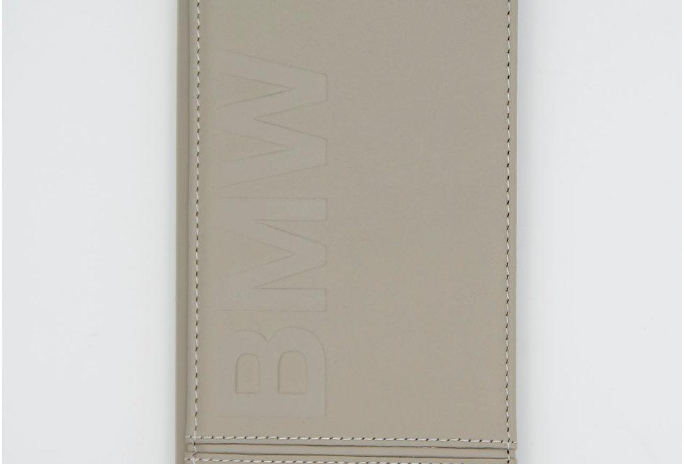 Кожаный чехол книжка на iPhone 8 Plus BMW