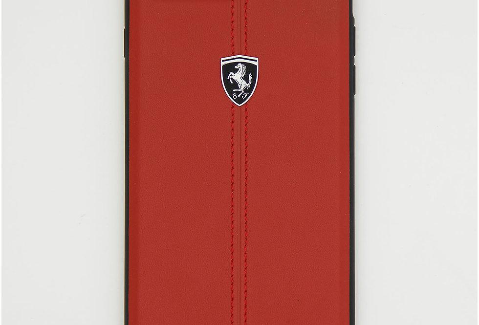 Кожаный чехол на iPhone 8 Plus Ferrari