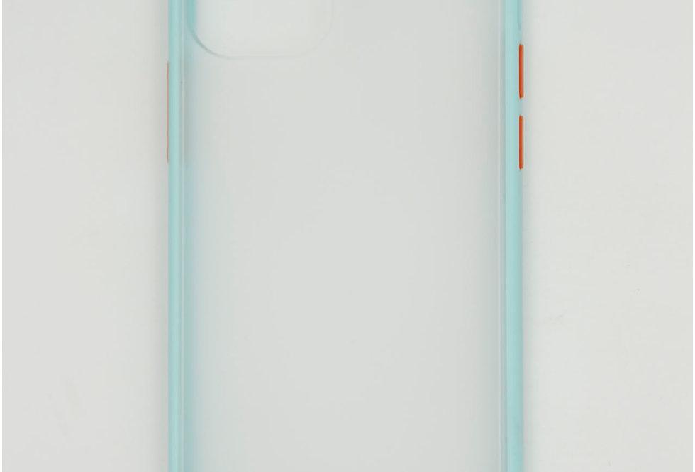 Чехол для iPhone 12 (5.4) противоударный тонированный матовый пластик