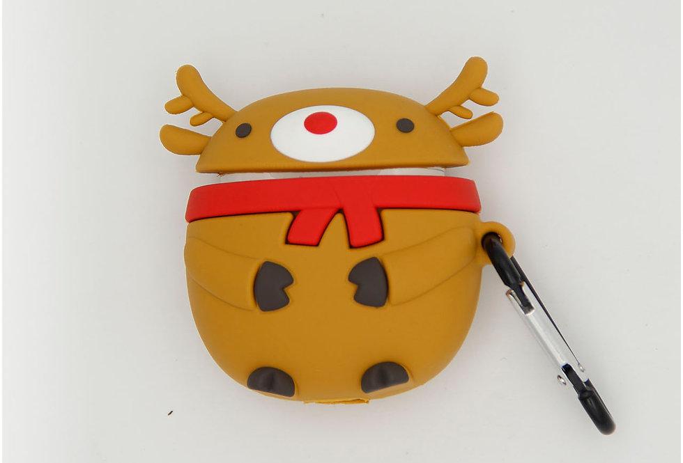 Чехол игрушка для AirPods новогодний олень