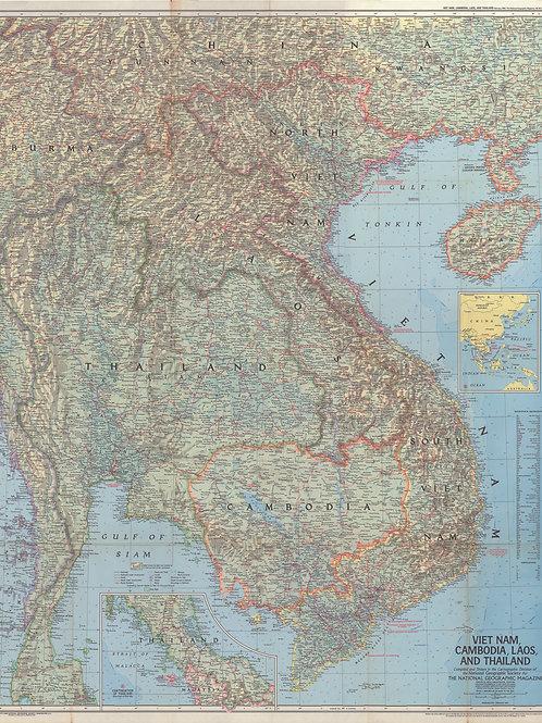 Vietnam Map poster