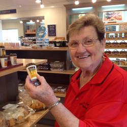 10-Carol likes the salt & pepper shakers.JPG