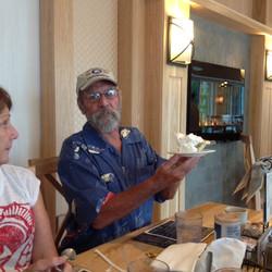 6-Willie trying to find his butterscotch pie under the cream.JPG