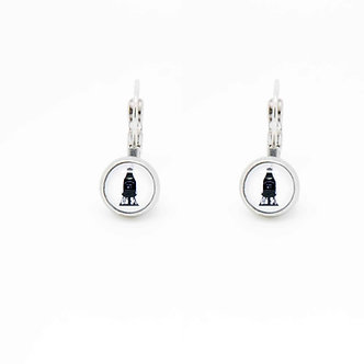 "Boucles d'oreilles Pendantes ""Bottle Milk"""