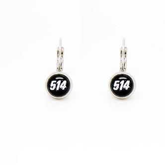 """Boucles d'oreilles Pendantes """"514"""""""