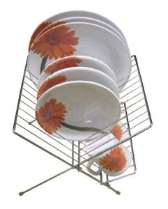 Folding plate rack chrome