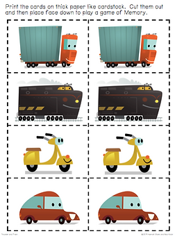Trucker and Train Memory Game 1.png