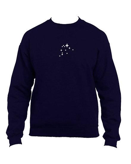 STARS ZODIAC NAVY SWEATER
