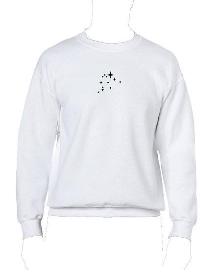 STARS ZODIAC WHITE SWEATER