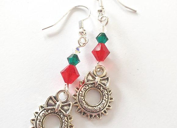 Wreath Earrings with Swarovski elements