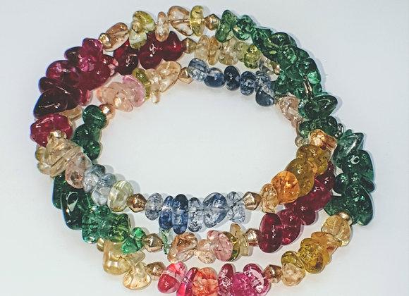 Quartz memory wire bracelet