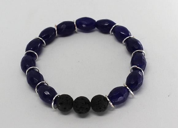 Blue quartz defuser bracelet