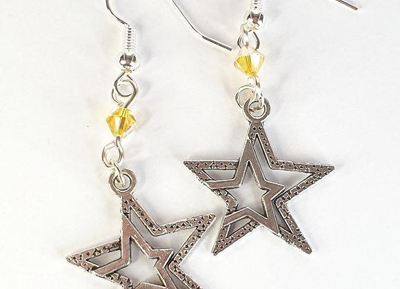 Double star Earrings