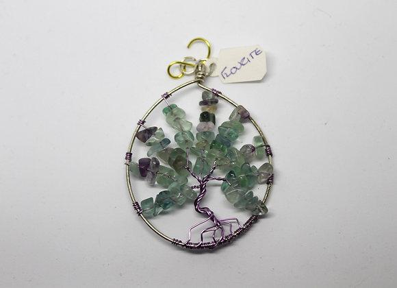 Flourite tree of life pendant