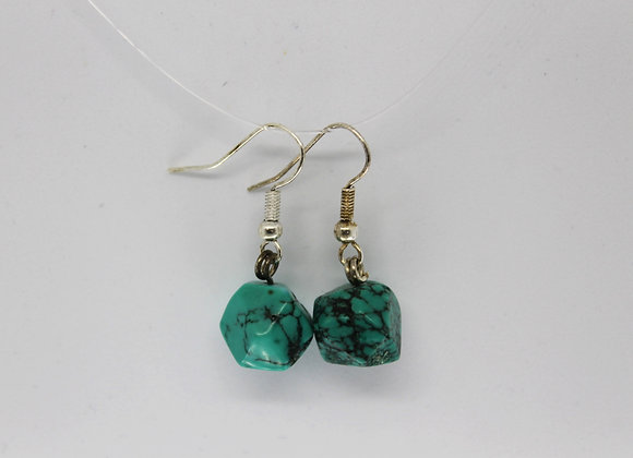 Green magnasite earrings