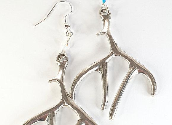 Antler Earrings with swarovski elements