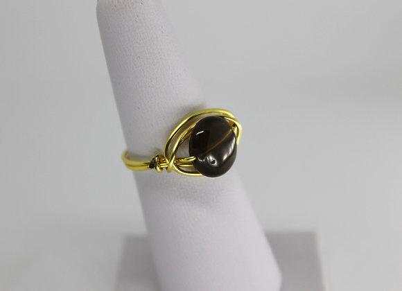 Smokey quartz ring